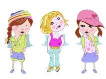 Fashion little girls Stock Photography