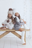 Fashion little girls Stock Images