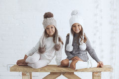 Fashion little girls Stock Photo