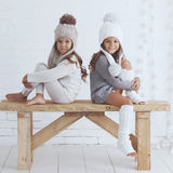 Fashion little girls Royalty Free Stock Photography