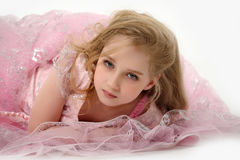 Fashion little princess girl portrait Stock Images