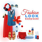 Fashion Look Background Royalty Free Stock Images