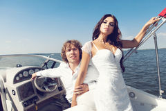 Fashion lovely beautiful couple Royalty Free Stock Images