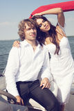 Fashion lovely beautiful couple Stock Photography