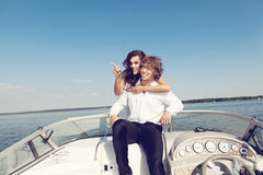 Fashion lovely beautiful couple Stock Image