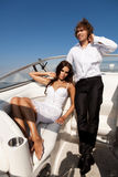 Fashion lovely beautiful couple Stock Photos