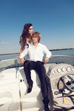 Fashion lovely beautiful couple Royalty Free Stock Photography