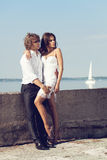 Fashion lovely beautiful couple Stock Photo