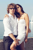Fashion lovely beautiful couple Royalty Free Stock Photos