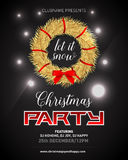 Fashion, luxury, elegant, rich Christmas night party poster, invitation, card, flyer vector illustration. Royalty Free Stock Photography