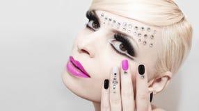 Fashion luxury makeup . royalty free stock image