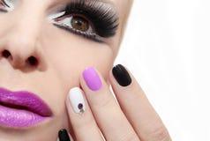 Fashion luxury makeup . stock photo