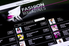 Fashion Magazines On iPad Stock Photo