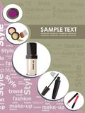 Fashion make-up. Vector drawing of the trendy cosmetics Royalty Free Stock Images