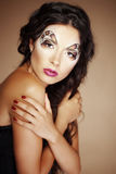 Fashion make-up Royalty Free Stock Photography