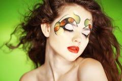 Fashion make-up royalty free stock photography
