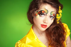 Fashion make-up Stock Photography
