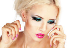 Fashion make-up Stock Images
