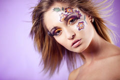 Fashion make-up Royalty Free Stock Images