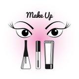 Fashion make up design. Illustration eps10 graphic Royalty Free Stock Photos