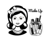 Fashion make up design. Illustration eps10 graphic Royalty Free Stock Image
