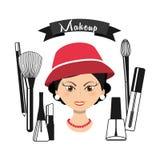 Fashion make up design. Illustration eps10 graphic Stock Images