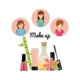 Fashion make up design. Illustration eps10 graphic Royalty Free Stock Photo