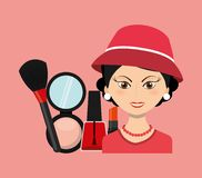 Fashion make up design. Illustration eps10 graphic Stock Photo