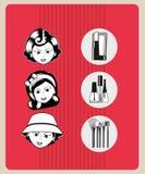 Fashion make up design. Illustration eps10 graphic Stock Image