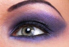 Fashion make-up of female eye Stock Photography