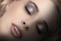 Fashion make up girl Stock Image