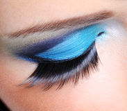 Fashion make-up with long false eyelashes Stock Photography