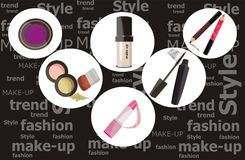 Fashion make-up presentation. Vector drawing of the fashion make-up presentation Royalty Free Stock Image
