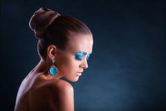 fashion makeup Royaltyfri Bild