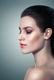 Fashion Makeup Beautiful Woman With Luxury Makeup. Beautiful Face Royalty Free Stock Photo