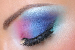 Fashion makeup of a female eye Royalty Free Stock Image