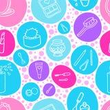 Fashion makeup pattern Stock Image
