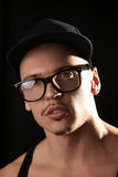 Fashion male in glasses looking at camera Royalty Free Stock Images