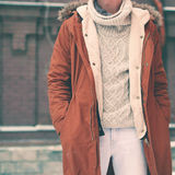 Fashion male look, jacket and sweater Stock Photo