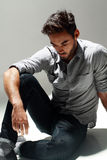 Fashion male model Stock Images