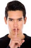 Fashion male - silence Stock Photos