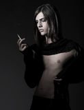 Fashion male smoking Stock Photo