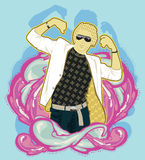 Fashion man. Graphic art illustration Stock Photo