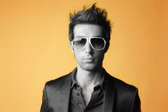 Fashion man. Fashion portrait of young man Stock Photos