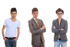 Fashion man, different mens styles Stock Photo
