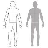 Fashion man figure Stock Image