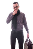 Fashion man - isolated Royalty Free Stock Image