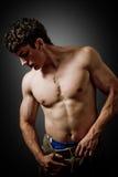 fashion man muscular portrait sexy Στοκ Φωτογραφία