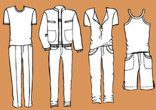 Fashion man's clothes royalty free illustration