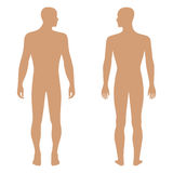 Fashion man's solid template figure silhouette Stock Photo